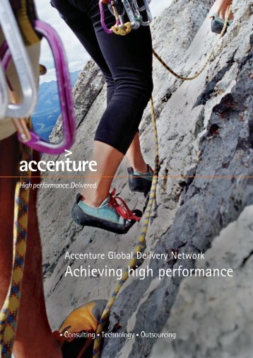 Accenture Global Delivery Network Powering High Performance