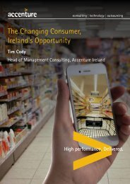 The Changing Consumer, Ireland's Opportunity - Accenture