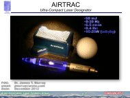 Solid state deep UV laser for Raman detection of CB ... - RPMC Lasers