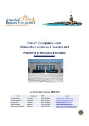 Forum Européen Lions - Lions Clubs International - MD 112 Belgium