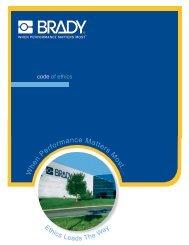 W hen Performance Matters Most... - Brady Corporation
