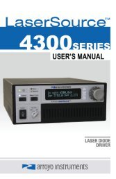 Arroyo 4300 Laser Source Users Manual.pdf - RPMC Lasers