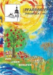 Pfarrbrief Innsbruck / Arzl - Nr. 1 Fastenzeit / Ostern 2015