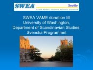 Svenska Programmet - Swea Seattle