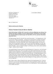 Medienmitteilung des Stadtrats - Ursula Marti