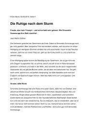Die Ruhige nach dem Sturm (Bund, Jean-Martin - Wahlkampfblog