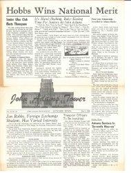 Hobbs Wins National Merit - John Adams High School Class Of 1961