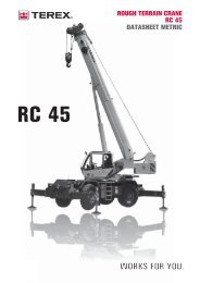 RC 45 ROUGH TERRAIN CRANE RC 45 DATASHEET METRIC