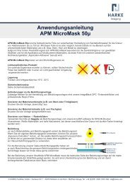 Anwendungsanleitung APM MicroMask 50µ