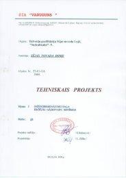 tehniskais projekts - SEJA.LV
