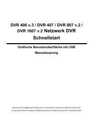 DVR 406 v.3 / DVR 407 / DVR 807 v.2 / DVR 1607 v.2 ... - Indexa