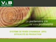 le système de pesée dynamique et ses ... - VAB Solutions