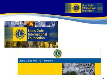 Belgian Lions Hope for Haiti - Lions Clubs International - MD 112 ...