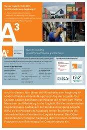 Auch in diesem Jahr bietet der Wirtschaftsraum Augsburg A³ wieder ...