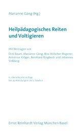 Heilpädagogisches Reiten und Voltigieren - Ernst Reinhardt Verlag