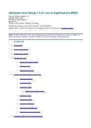 Utilizzare Inno Setup con applicazioni dB2K.pdf - Ecosoft Srl