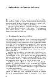 1 Meilensteine der Sprachentwicklung - Ernst Reinhardt Verlag