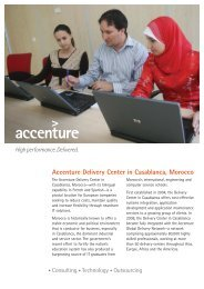 Accenture Delivery Center in Casablanca, Morocco