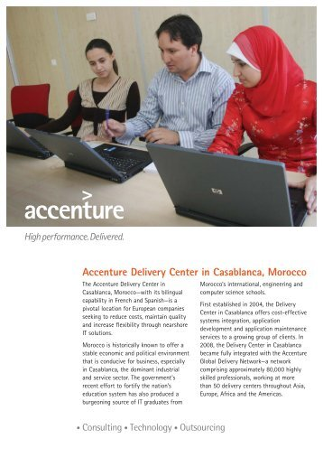 Accenture delivery centers