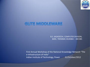 The e-Infrastructure of India - National Knowledge Network