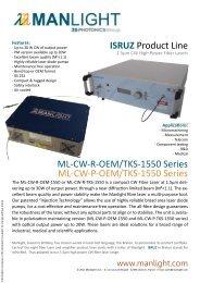 ISRUZ Product Line ML-CW-R-OEM/TKS-1550 ... - RPMC Lasers