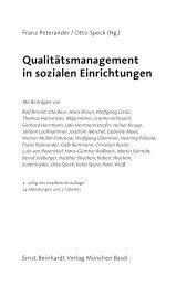 Qualitätsmanagement in sozialen Einrichtungen - Ernst Reinhardt ...