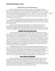 Christianity's Central Importance - NetBibleStudy.com