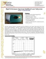 I0785SR0100B - Innovative Photonic Solutions
