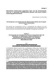 Kirchengesetz - AG MAV Diakonische Werke Niedersachsen