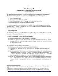 Datenschutz in der Mitarbeitervertretung - agmav WESTFALEN