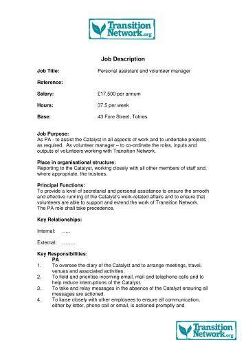 job description in pdf format transition culture - Stockroom Job Description