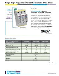 Product Data - Ferraz Fuses & Mersen Products