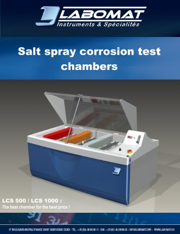 Salt spray corrosion test chambers - Labomat