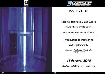 INVITATION 15th April 2010 - Labomat