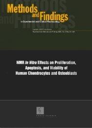 פרסום NMR In vitro effects on proliferation, apoptosis, and viability of ...