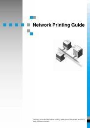 Network Printing Guide - Savin