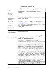 Proposition de Bourse de thèse
