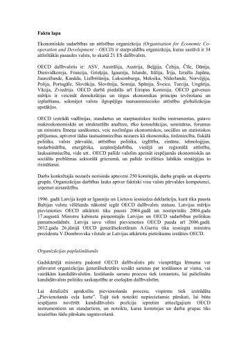 Faktu lapa Ekonomiskās sadarbības un attīstības organizācija ...