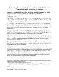 Declaración y Compromiso Conjunto - International Association for ...