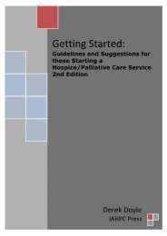 Getting Started: - International Association for Hospice & Palliative ...