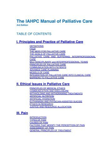 Ethical Issues - International Association for Hospice & Palliative Care