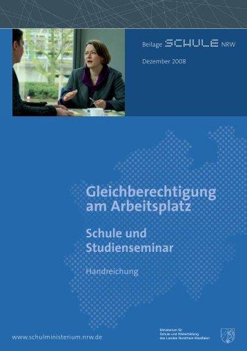 Gleichberechtigung am Arbeitsplatz Schule und Studienseminar