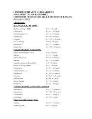 Student Nurse Orientation Manual LifeBridge Health: The