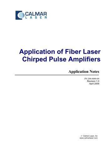 FLCPA Application Notes - Calmar Laser