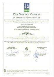 DET NORSKE VERITAS - mercurymarine.dk