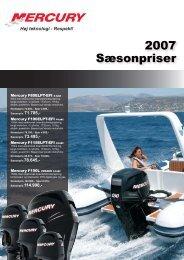 2007 Sæsonpriser - mercurymarine.dk