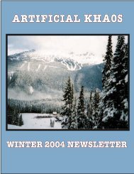 Winter Newsletter - Artificial Khaos