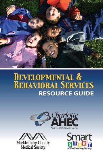 Developmental & Behavioral Services - Mecklenburg County ...