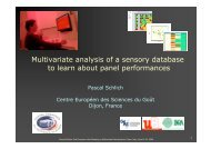 Multivariate analysis of a sensory database to learn ... - User Meeting