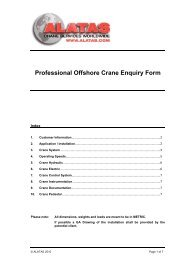 Professional Offshore Crane Enquiry Form - Alatas Crane Services ...